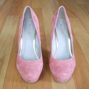 Aldo Shoes - Aldo Pink Suede Wedges